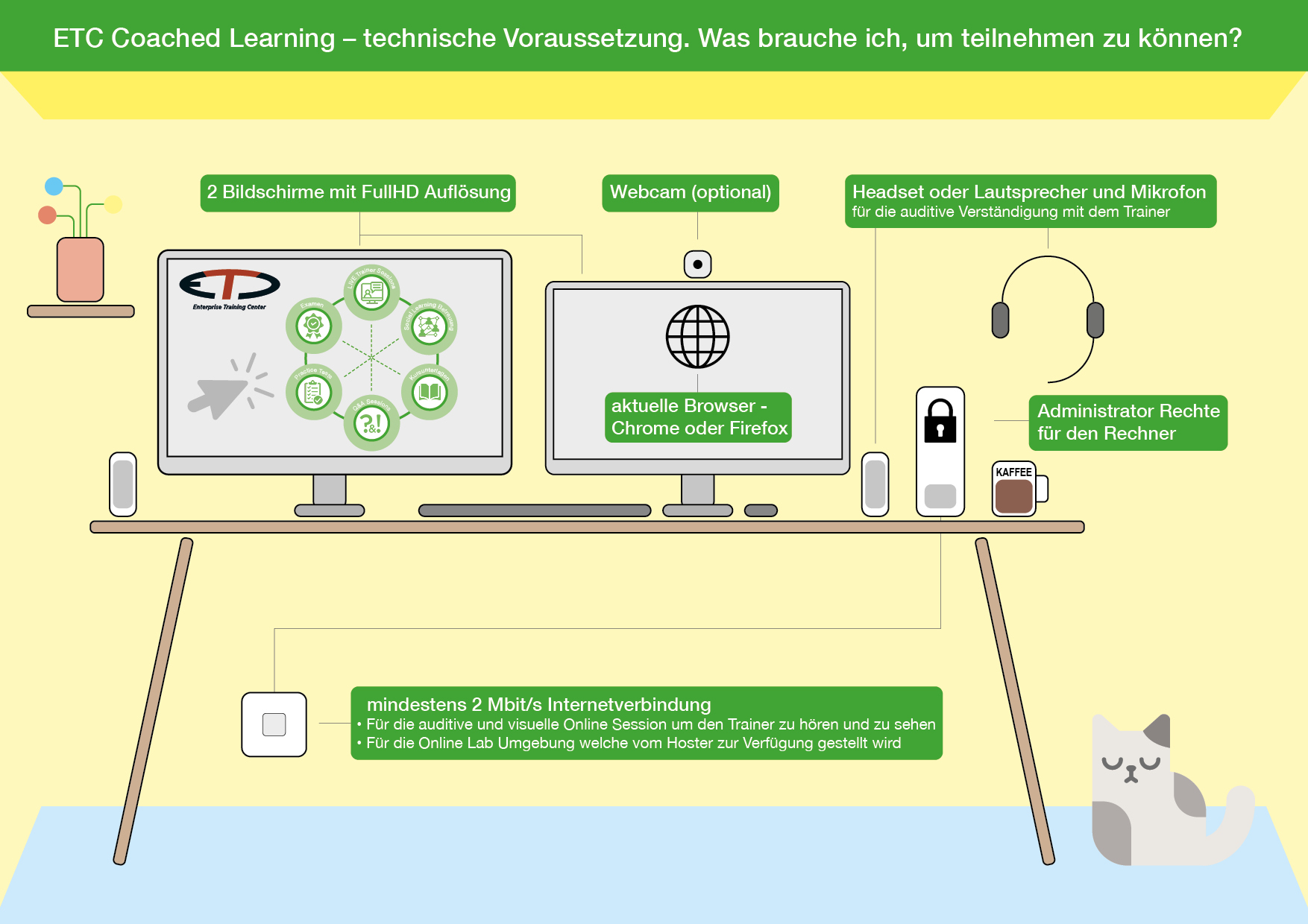 Coached Learning Systemanforderung